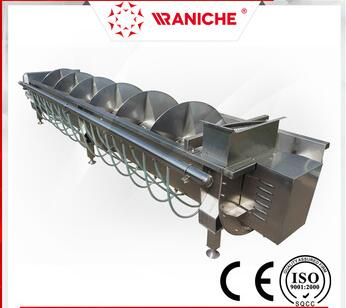 Chicken Feet Spiral Pre-chiller Poultry Slaughtering Equipment