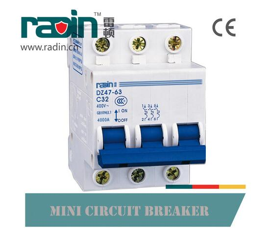 Dz47-63 Series ISO9001-2000 Mini Circuit Breaker 3p 20A MCB