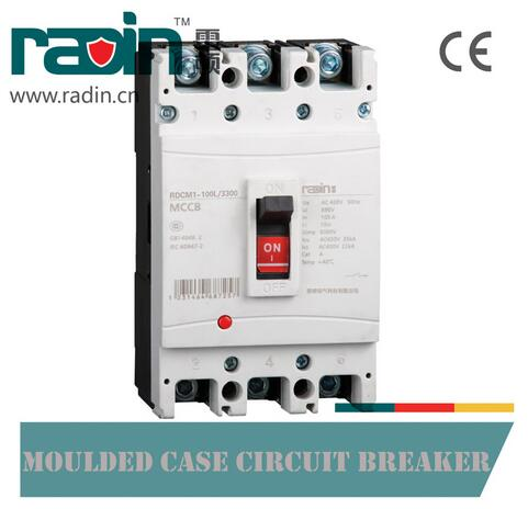 Rdcm1-100L AC400V 100A Moulded Case Circuit Breaker MCCB