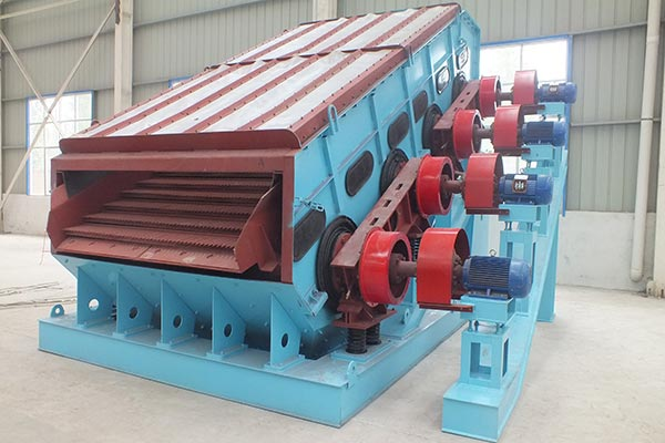 Dual frequency Linear vibrating screen for natural stone industry