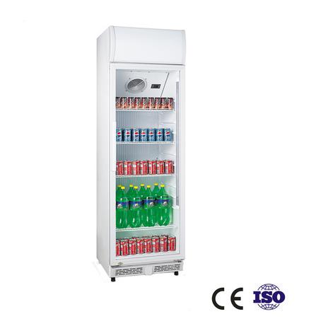 360 Liter Glass Door Vertical Display Cooler