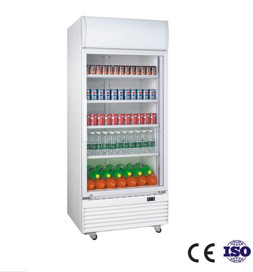 430 liter single door upright showcase for 1 door display chiller
