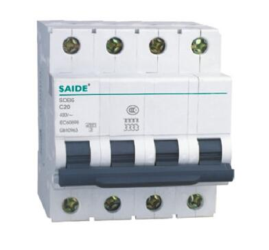 SDB6 Ce CB RoHS Approved 6ka 10ka MCB Miniature Circuit Breaker