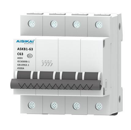ASKB1-125A Series 3 Poles Miniature Circuit Breaker 125A MCB
