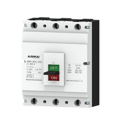 ISO9001 100A 3poles MCCB Molded Case Circuit Breaker Wich CE