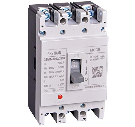MCCB-100 Series 3Poles Electric Type Moulded Case Circuit Breaker
