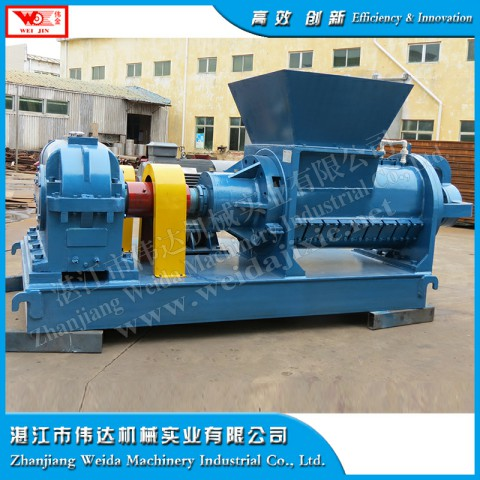 Hard and soft plastic helix crushing machine