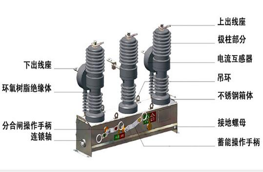 12kv 24kv 40.5kv 72.5kv High-Speed Outdoor Vacuum Circuit Breaker