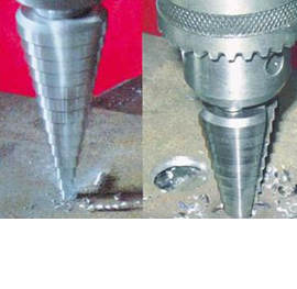 Step drill Double straight fluts