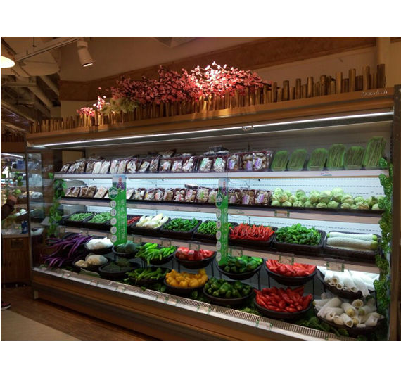 Supermarket Big Capacity Commercial Refrigerated Showcase