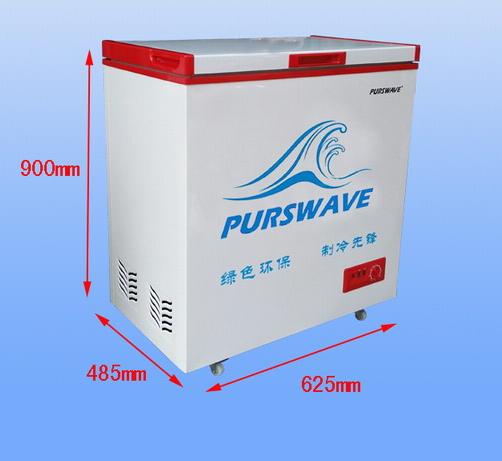 Solar Chest Freezer 12V24V48V Single Door Refrigerator