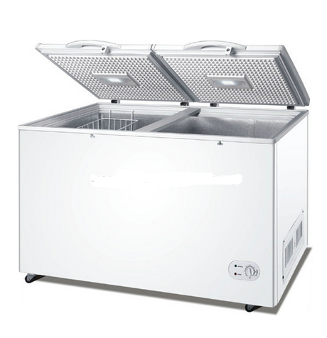 High Efficient Compressor Cooling Double Door Freezer