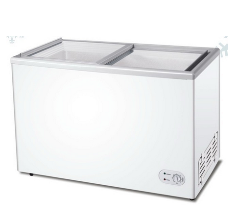 260L Sliding Glass Door Chest Freezer