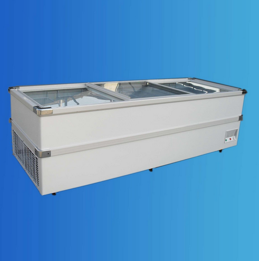2.5m Supmarket Display Freezer, Island Freezer
