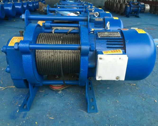 ISO 9001 National Standards Small Electric Winches 1000kg Lifting