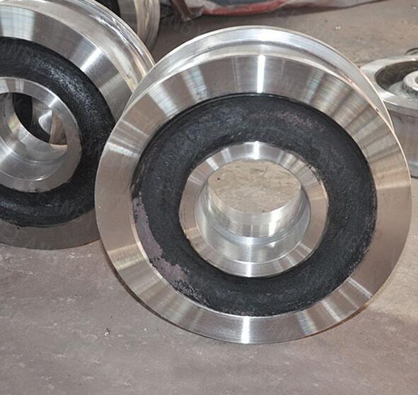 BEFANBY ISO 9001 Sand Blasting Cast Steel Crane Wheel on Rail