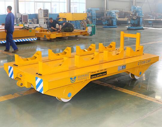 10t Non-Powered Railway Transport Trolley Flat Cargo Wagon