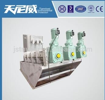 solid and liquid separator for small screw sludge