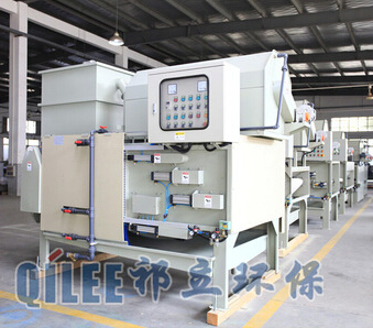 liquid solid separator belt type dewatering sludge filter press