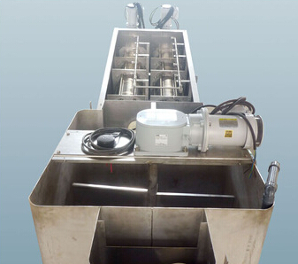 solid liquid separator screw type sludge dehydrator
