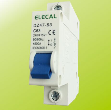 DZ47-63 1P Series Normal Type Low Voltage Mini Circuit Breaker