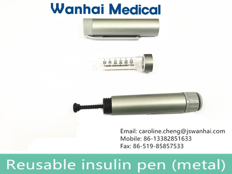 Reusable metal insulin pen for India market
