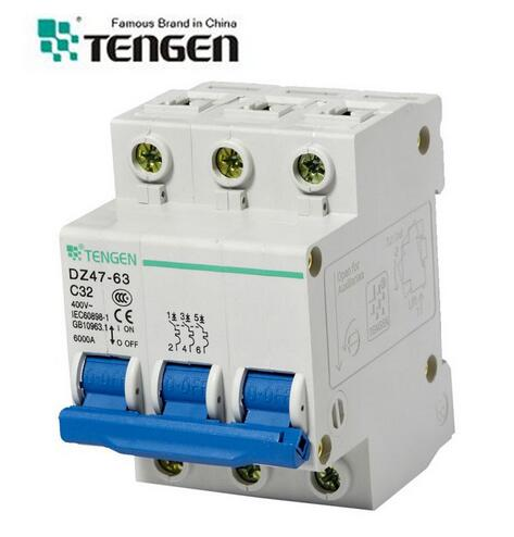 Tengen Dz47-63 Series 6ka Semko Certificate Mini Circuit Breaker