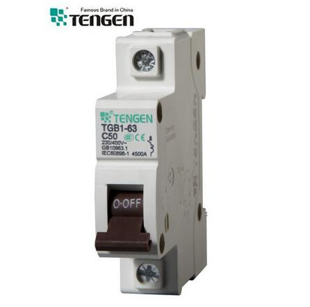 Tgb1-63 Series Tengen 6ka MCB CE Approved Mini Circuit Breaker