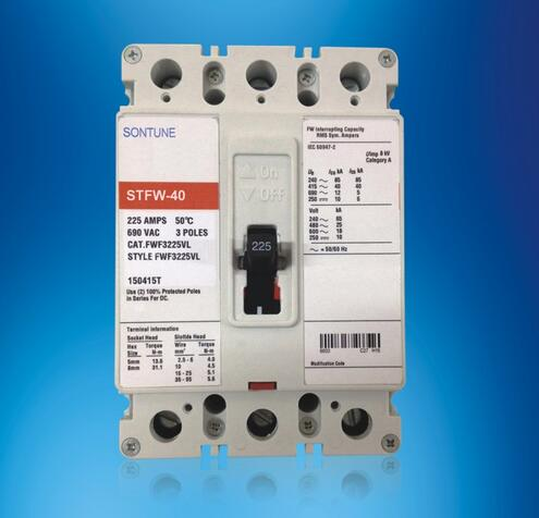 Sontune Stfw-40 ST225 Series Fixed Moulded Case Circuit Breaker