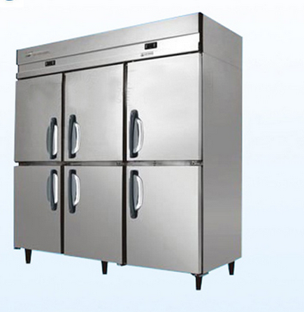 6 Door Freezer Stainless Kitchen/Hotel/Restaurant Freezer