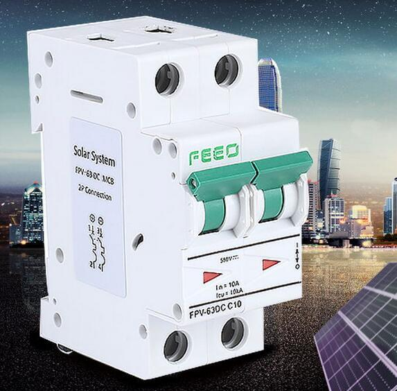 Sun Power Switch Dp 500V 2pole Low Voltage Mini Circuit Breaker