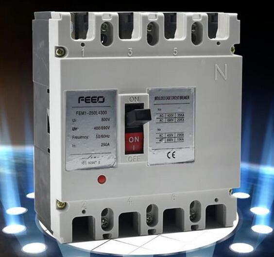 FEM1 3phase 63A Manual Type Moulded Case Circuit Breaker MCCB