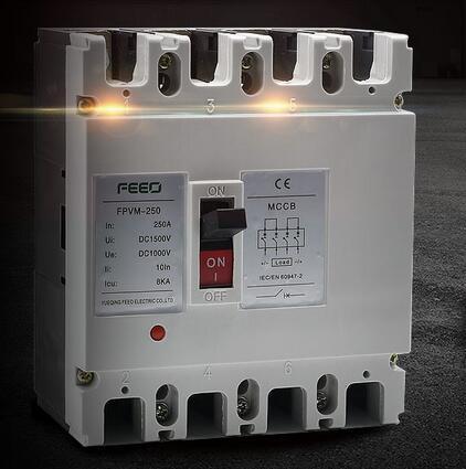 Solar Energy 1000V 4pole Moulded Case Circuit Breaker DC MCCB