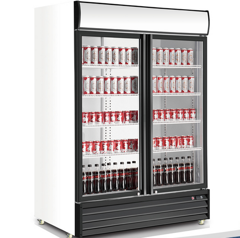 Glass Door Merchandiser with America Style Large Capacity Cooler