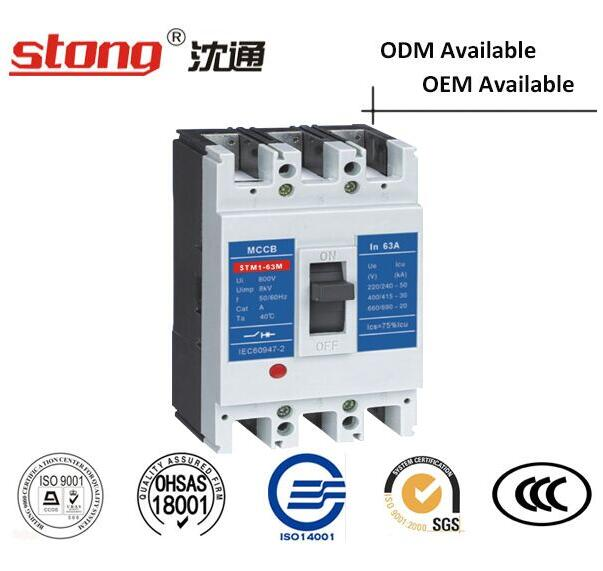 Stm1-63A Series MCCB High-Speed Moulded Case Circuit Breaker