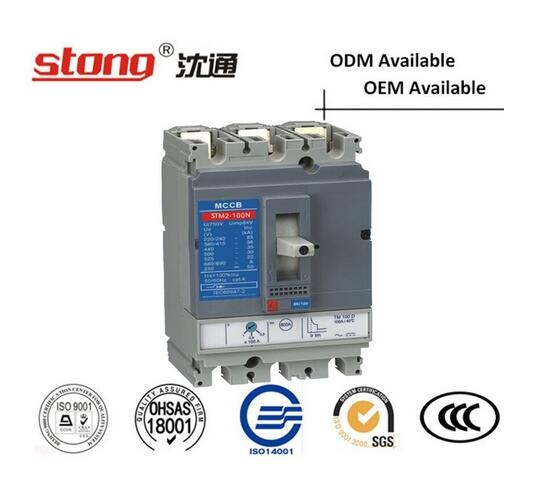 Stm2-100A Series MCCB Low Voltage Moulded Case Circuit Breaker