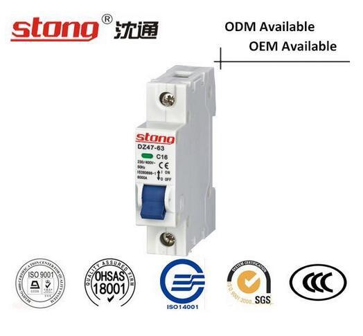 Dz47-63 Indicator Overcurrent Protection Mini Vacuum Circuit Breaker