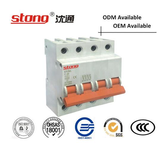 Stcb-1 Series MCB 4p New Product Vacuum Mini Circuit Breaker