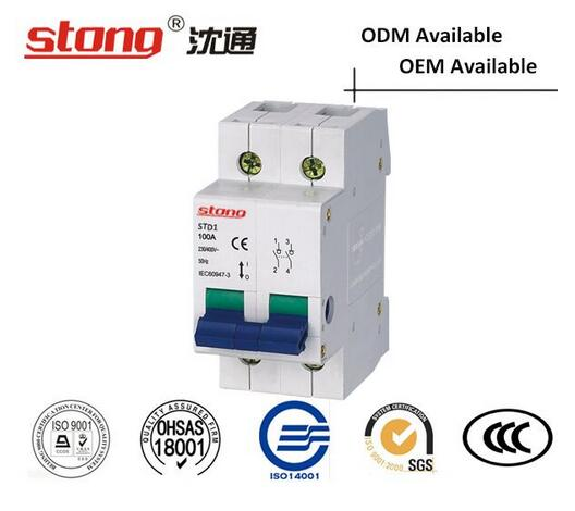 Std1 Series LV Insolating Switch Loop Protection Mini Circuit Breaker
