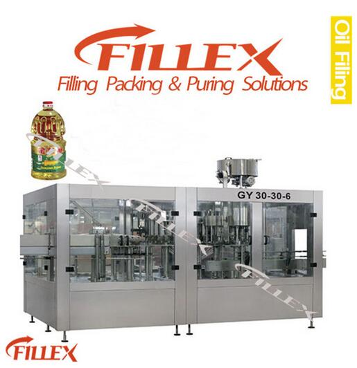 GYF Fully Automatic Oil Rinsing Filling Capping Monobloc Machine