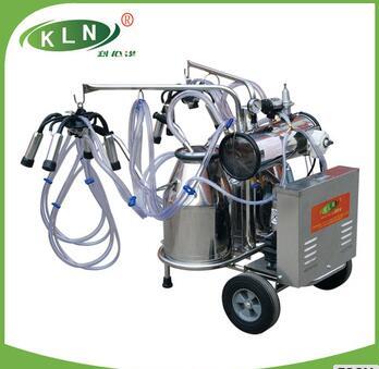 Vacuum pump type mobile cow milking machine