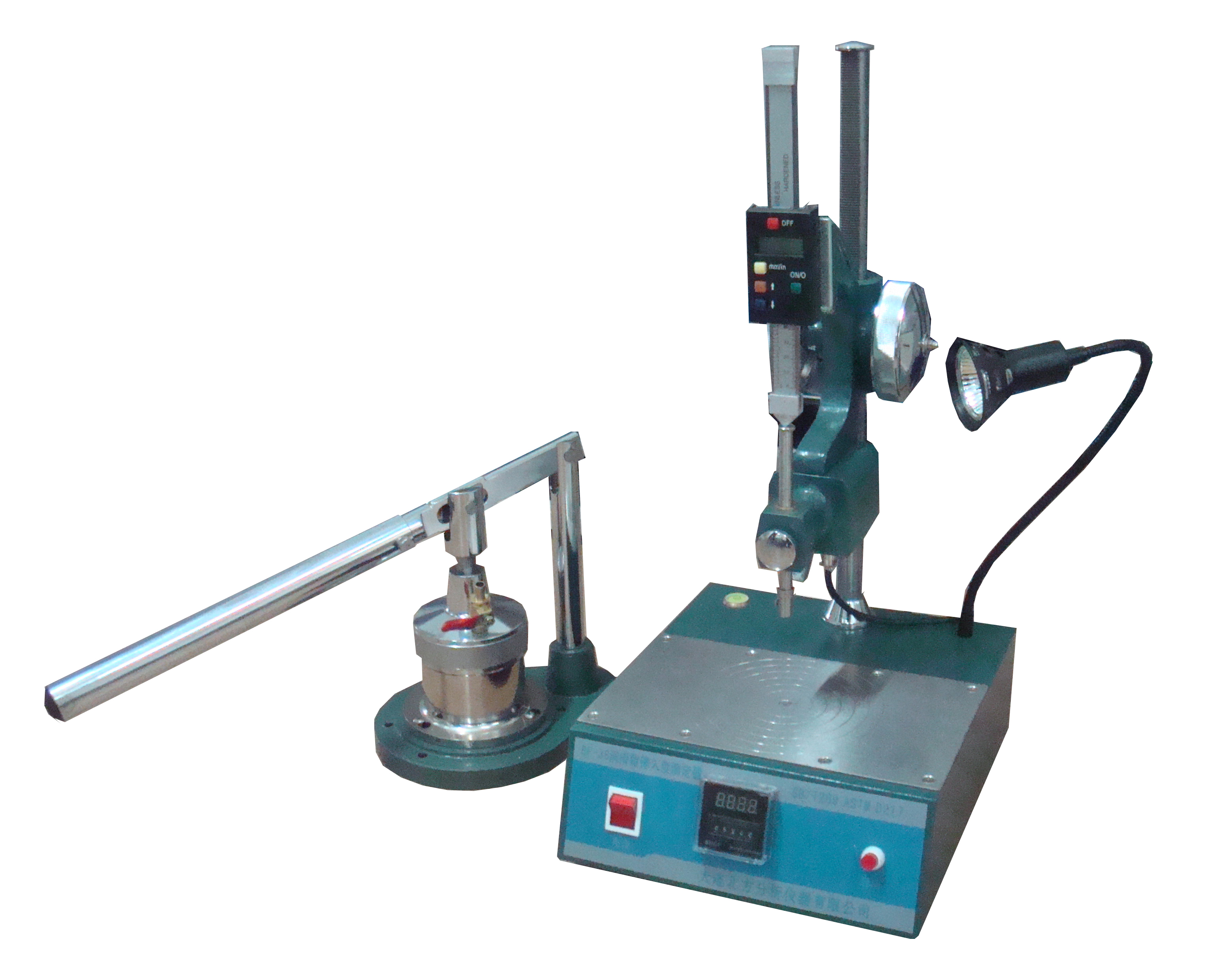Tester for cone penetration of lubricating grease