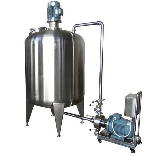 Stainless Steel Cosmetics Vacuum Emulsifying Homogenizing Tank