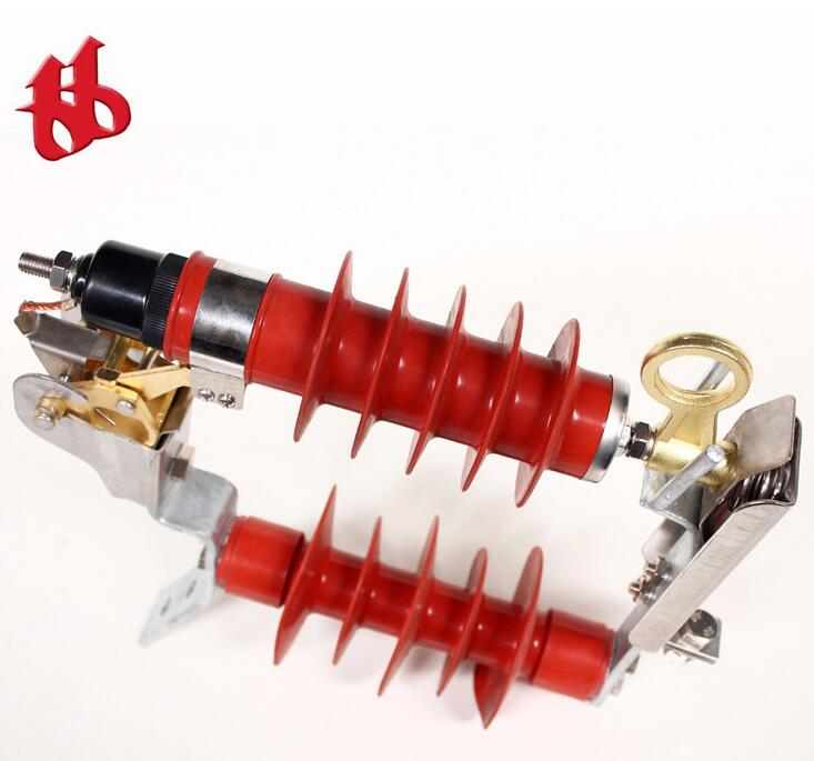 17KV Polymer housed metal-oxide surge arrester with power cable