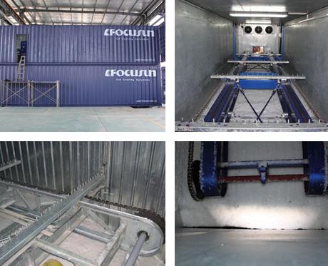 Rake ice storage room
