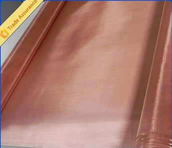 Trade assurance EMF shielding plain woven pure copper mesh fabric