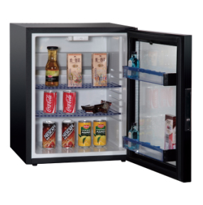Commercial Glass Door Hotel Refrigerator Cabinet with Shelf Xc-38
