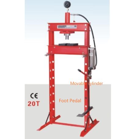 LD-P01202F 20ton Hydraulic/Pneumatic Shop Press with Foot Pedal