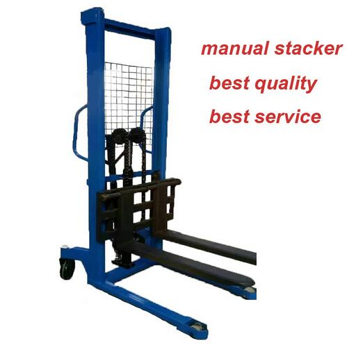 MHS Pump Hand Hydraulics Manual Stacker with Nylon Wheel