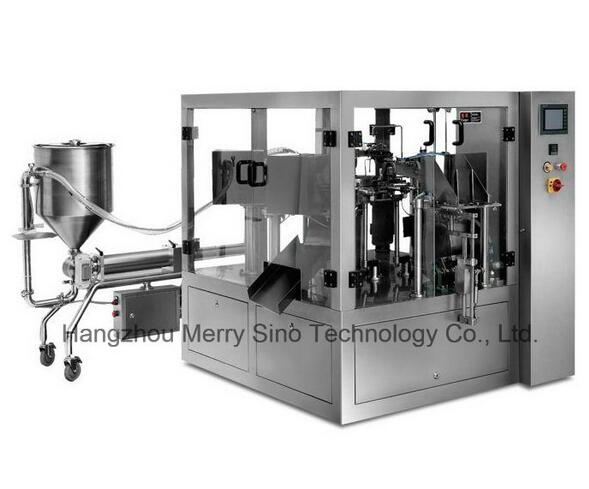 Mr8-200cy Lin-Pack Fully Automatic Liquid Packing Production Line